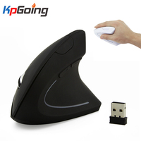 Gamer Mouse Vertical Ergonômico Mouse Óptico Sem Fio 2.4G 800 1200 1600 Pulso de Cura Luz Colorida Mause para Windows MAC SISTEMA OPERACIONAL