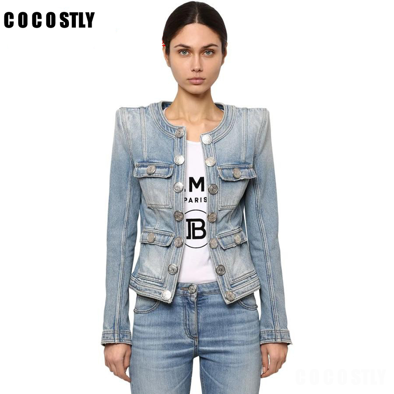 autumn denim   jacket   womens coats denim top double breasted short   basic     jackets   suit collar slim outerwear jean coat