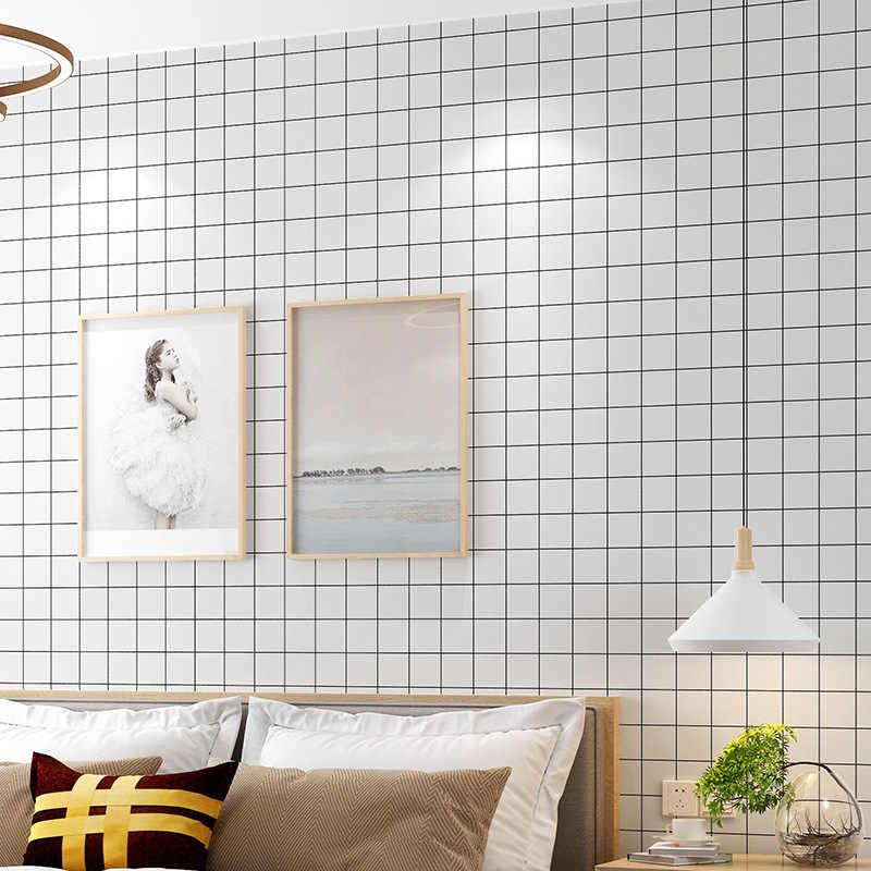 Neue Dark Grau Luxus Geometrische Tapete Rolle Schwarz Grau Wand Papier Moderne Design Schlafzimmer Wohnzimmer Hintergrund Home Wand Decor