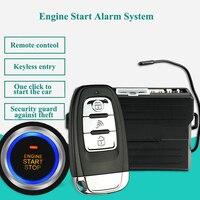 12v carro anti-roubo motor começa sistema de alarme + keyless entrada remoto universal veículo keyless alarme pke avisar botão começa