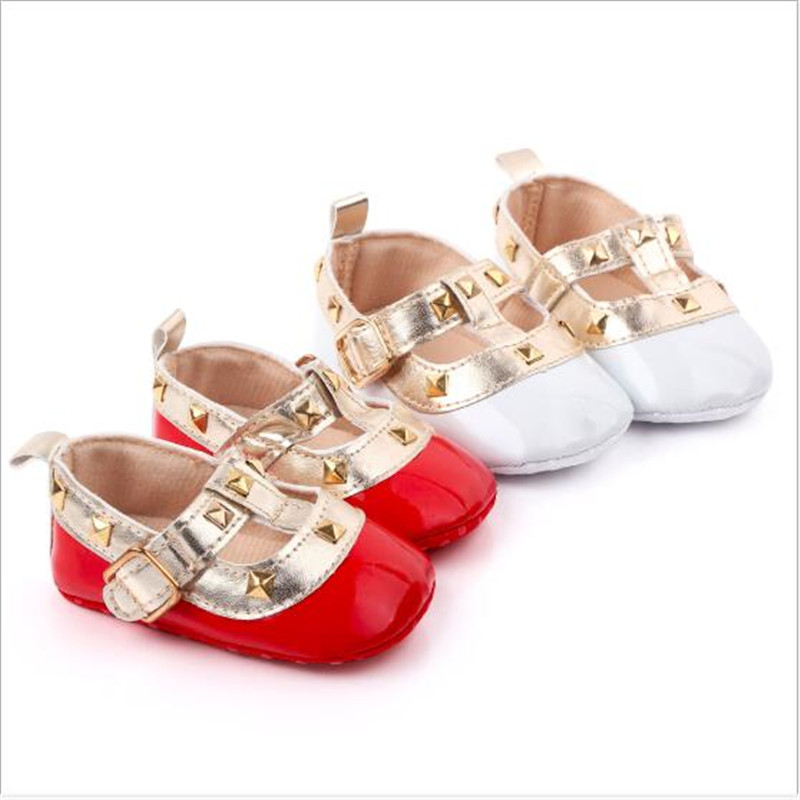 New Baby Girl Shoes Infants PU First Walkers Newborn Girls Princess Shoes Soft Sole Baby Crib Shoes