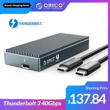 ORICO Thunderbolt 3 40Gbps NVME M.2 SSD Gehäuse 2TB Aluminium USB C mit 40Gbps Donner Bolt Thunderbolt 3 für Mac buch