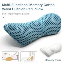 Lumbar Pillow Bed Memory Cotton Sleeping Pillow For Lower Back Pain Orthopedic Lumbar Support Cushion Pregnancy Maternity Pillow