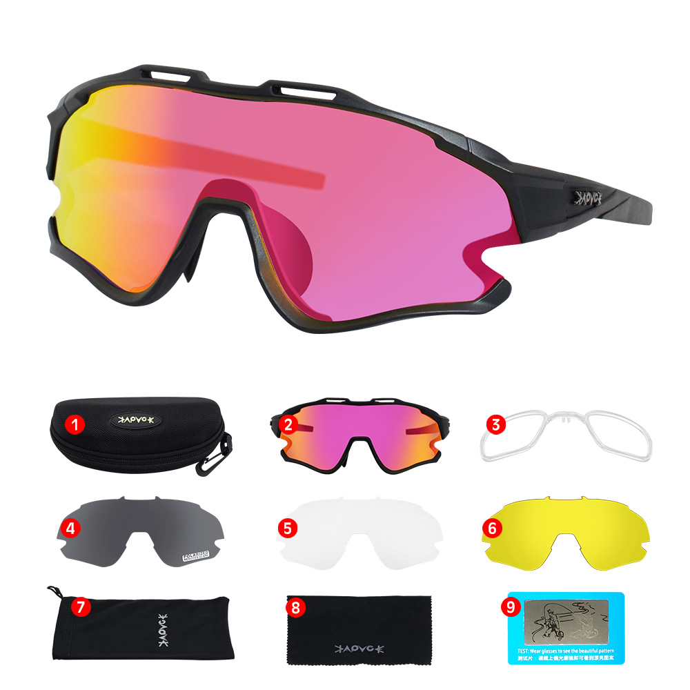 Cycling Sunglasses Professional Polarized Cycling Glasses MTB Road Bike Sport Sunglasses Bike Eyewear UV400 Bicycle Goggles 18