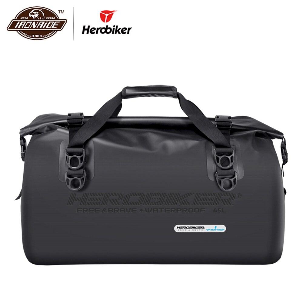 HEROBIKER 45L мотоциклетная сумка, водонепроницаемый мотоциклетный рюкзак, сумка для шлема, мотоциклетная сумка для хвоста, багажные сумки для мо...