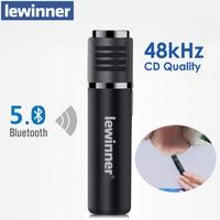 Lewinner-micrófono inalámbrico con Bluetooth, dispositivo de grabación de vídeo corto, reducción de ruido en tiempo Real, para Vlogger