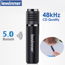 Lewinner SmartMic سماعة لاسلكية تعمل بالبلوتوث ميكروفون في الوقت الحقيقي راديو الحد من الضوضاء الفيديو القصير Vlog جهاز تسجيل ل Vlogger