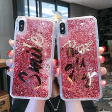Electroplate Smile Liquid Dynamic Glitter Quicksand Case For iphone X XR XS Max Cover 6 6S 7 8 Plus Bling Coque Cases