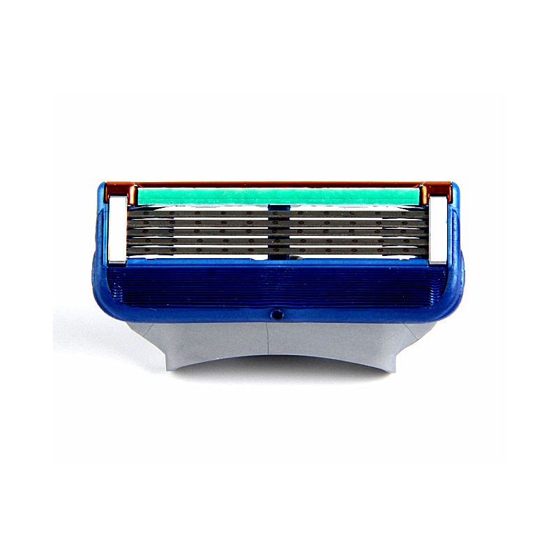 4pcs/lot Razor Blade For Men Face Care 5Layers Shaving Cassette Stainless Steel Safety Blades Suit For Gillettee Fusione