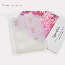 Flower Invitation flat ring mold collection Silicone ring mold package