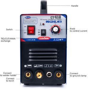 Image 3 - بلازمارجون 110/220 فولت الجهد المزدوج 3 في 1 متعددة الوظائف آلة لحام TIG لحام بالقوس قطع البلازما CT418 مع الملحقات المجانية