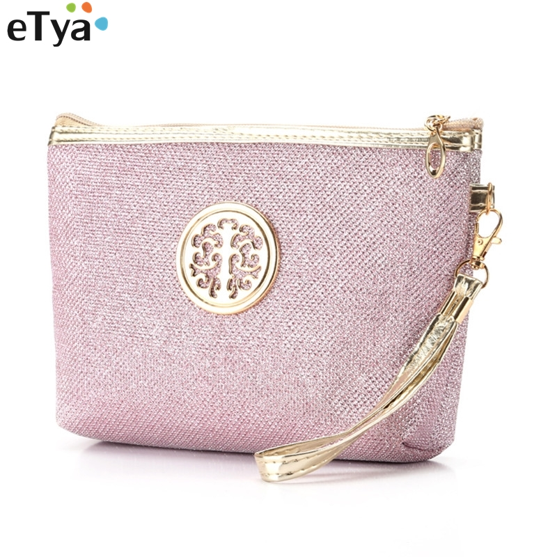 ETya Cosmetic Bag For Women Men Travel Bling Ladies Zipper Makeup Bags Fashion Makeup Wash Toiletry Organizer Bag Pouch Case