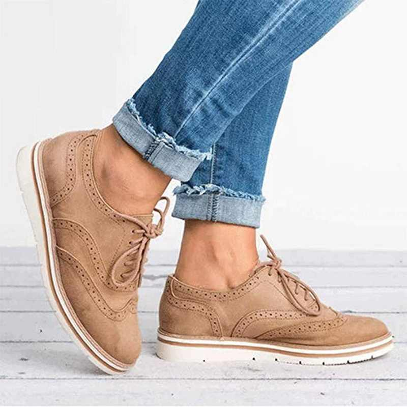 MoneRffi sıcak satış bahar İngiliz tarzı kadın platform ayakkabılar kadınlar rahat ayakkabılar Flats deri ayakkabı cut-çıkışları düz artı boyutu 35-43