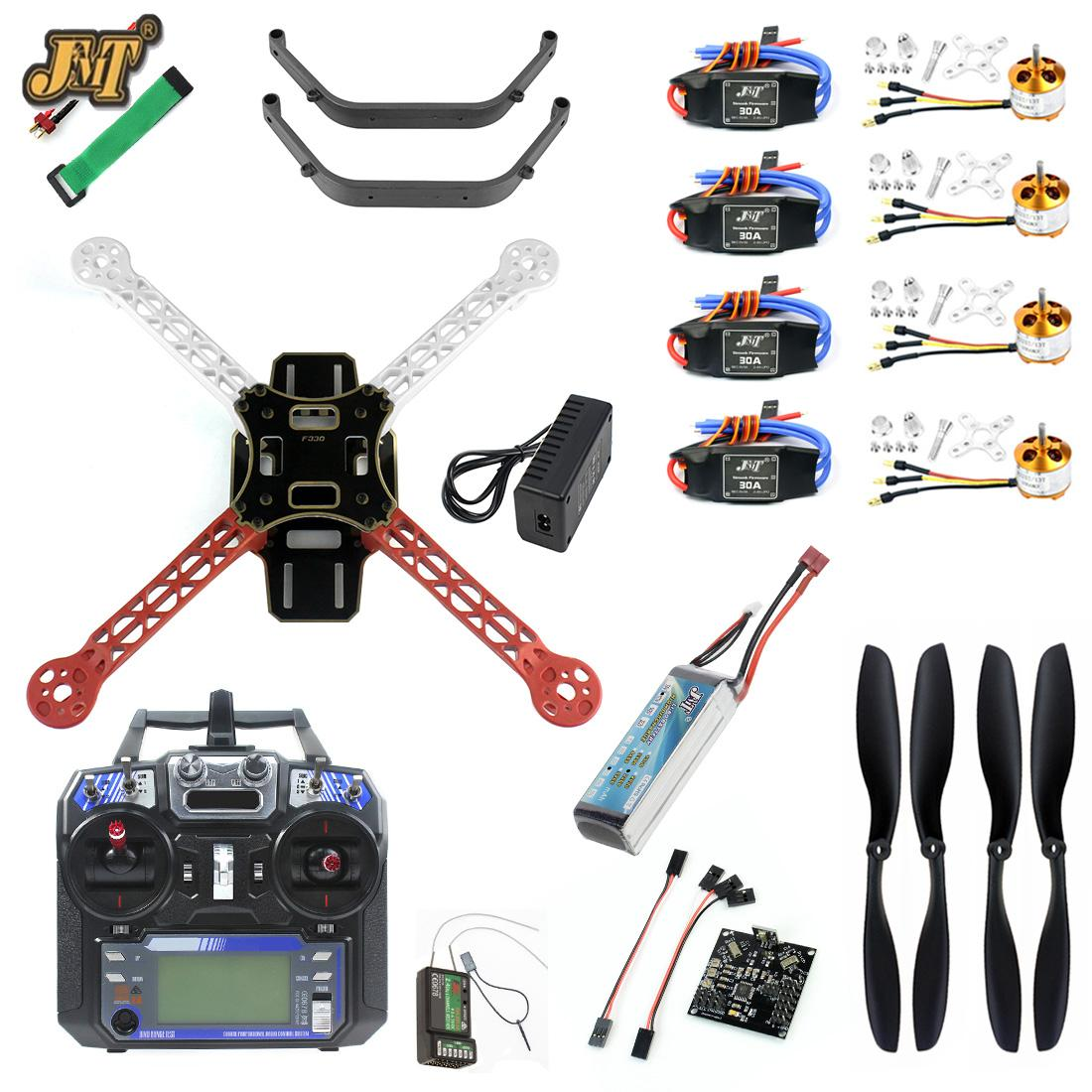 JMT Full Set DIY RC Drone Quadrocopter Kit 4-axle F330 MultiCopter Frame KK XCOPTER V2.9 Flight Control Flysky FS-i6 Transmiter