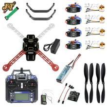 Jmt conjunto completo diy rc zangão quadrocopter kit 4-axle f330 multicopter quadro kk xcopter v2.9 controle de vôo flysky FS-i6 transmissor
