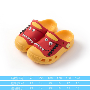 2-18y Kids Mules & Clogs Summer Baby Toddler Boys And Girls Croc Sandals Cartoon Dinosaur Slippers Children's Garden Shoes H19 - As picture, 22