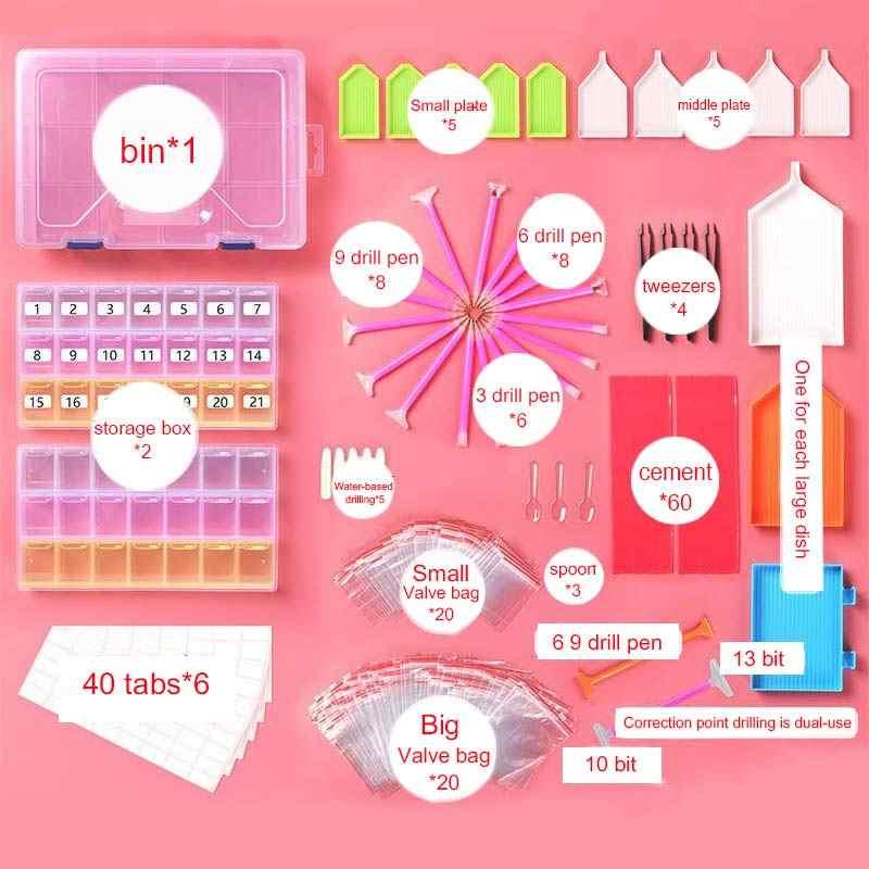 Mosaik Kleber Stift Kit DIY 5D Pinzette Stickerei Stift Werkzeuge Set Diamant Malerei Kreuz Stich 1Set Diamant Malerei Zubehör