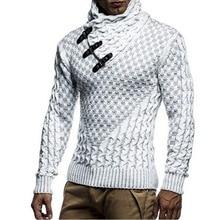 New fashion brand Slim Men's Knit Lapel Long Sleeve Turtleneck Turtlene