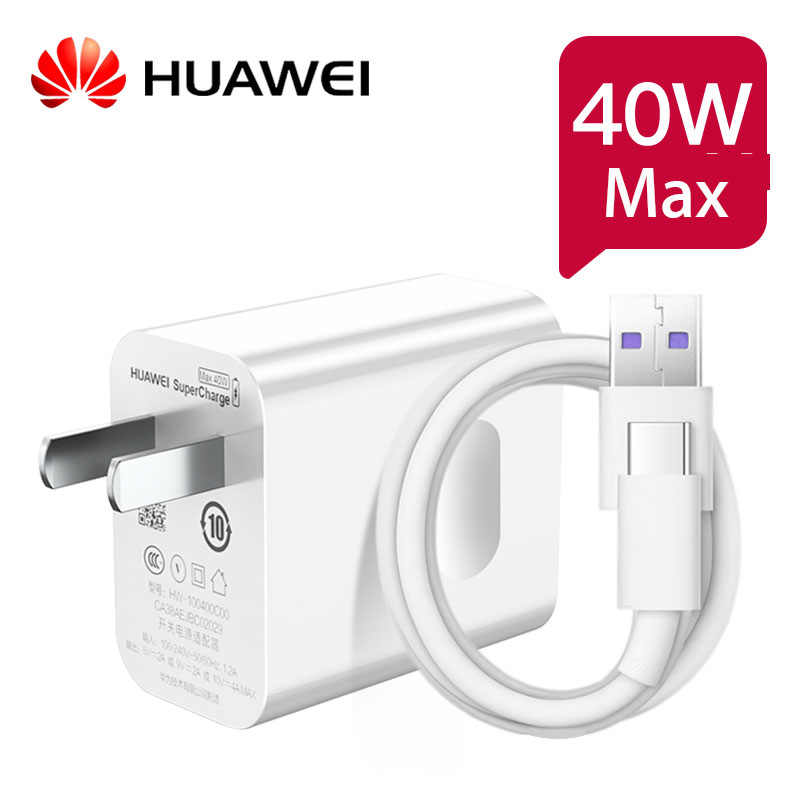 Original Huawei 40 W ชาร์จ supercharge Super ชาร์จสำหรับ Huawei P30 P20 PRO MATE 30 20 ฿ nova 5 Pro Honor 20 Magic 2 10V