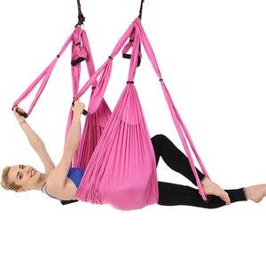 Image 4 - Hot 6 Maniglie Anti Gravità Yoga Amaca Trapezio Palestra di Casa Appeso Altalena Cintura Cinghia di Pilates Aerea Dispositivo di Trazione 2.5*1.5m