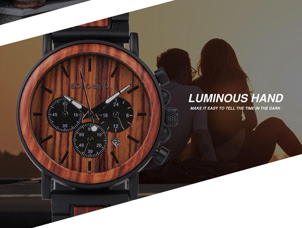 H6b4f06c52a7d469cbf86c1244eb135c7h BOBO BIRD Wooden Watch Men erkek kol saati Luxury Stylish Wood Timepieces Chronograph Military Quartz Watches in Wood Gift Box