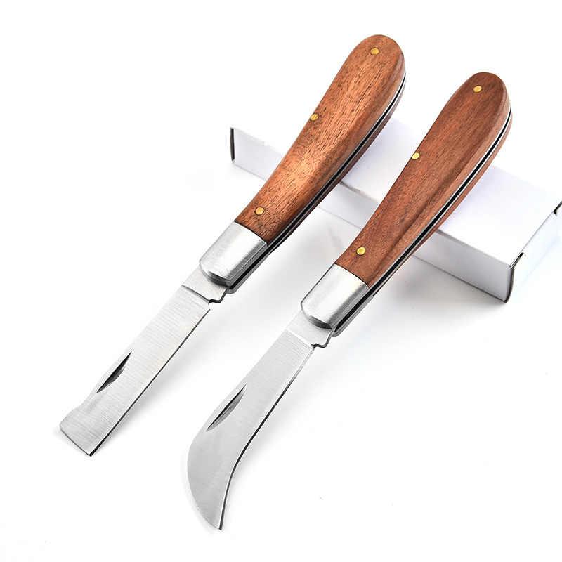 Dobeli الفولاذ المقاوم للصدأ جيب سكين للفرد خلفية روزوود مقبض المنجل الفطر سكين Karambit فائدة سكين كهربائي