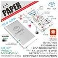 M5Stack официальный M5Paper ESP32 макетный комплект 960X540, 4,7 дюймовый дисплей eInk, 235 PPI IoT терминал электронная книга промышленная панель управления