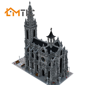 BuildMoc Modular Catheral City Street View Simulation Collection Model Building Blocks Diy 21775pcs Bricks Educational Xmas Gift