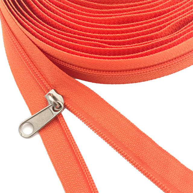 5 Meters Zipper By The Yard Nylon Coil Zippers With 10pcs Zipper Slider  For Pur
