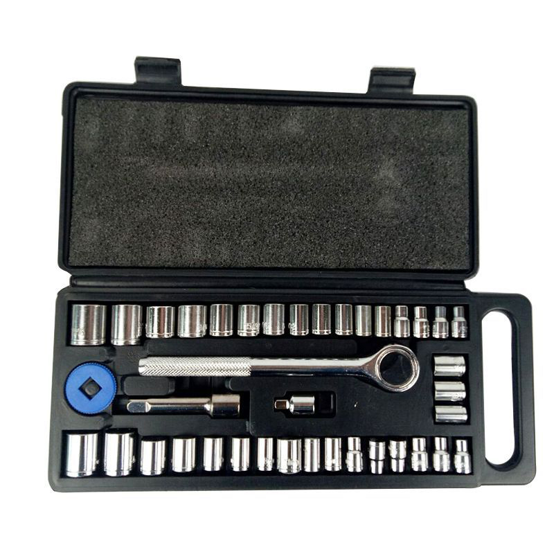 40pcs Socket Set Car Repair Tool Ratchet Set Torque Wrench Combination Bit A Set Of Keys Chrome Vanadium Wrench Set