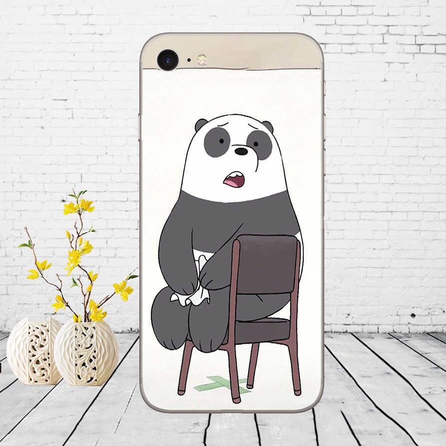 259DD We Blote Ijs Beer Panda Witte Zachte Siliconen Cover Case Voor Iphone 5 5S Se 6 6S 8 Plus 7 7 Plus X Xs Sr Max Case