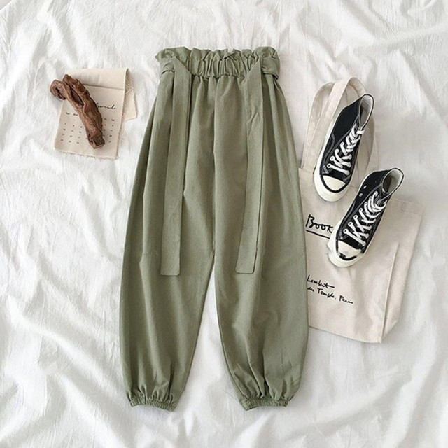 Summer Two Piece Set Female Cute Printed Tracksuit Fashion Casual High Waist Bandage Green Pants Suits Women Plus Size Outfits 5