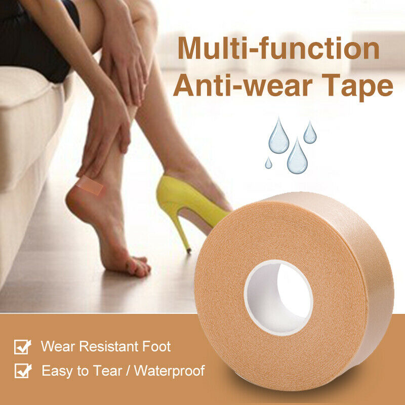 1Roll Anti-Wear Foam Cotton Heel Sticker Tape Patch Blister Plaster Waterproof First Aid Blister Pedicure Pad Foot Care Insole