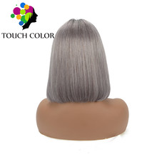 Lace Front Wig Mongolian Straight Short Bob Wigs For Black Women Ombre Colored Remy Human Hair 13x4 Pre Plucked