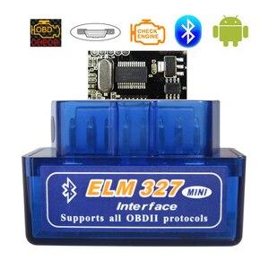 Image 1 - ELM327 – outil de Diagnostic automobile, lecteur de Code, Bluetooth V1.5, prise OBD2, pour Android, ELM 327