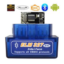 OBD2 סורק ELM327 Bluetooth V1.5 OBDII רכב אבחון סורק ELM 327 Bluetooth OBD 2 עבור אנדרואיד קוד קורא אבחון כלים