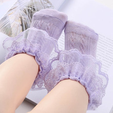 Fashion Ruffle Frilly Princess Baby Girls Toddler Breathable Ankle Socks Newborn Tutu Lace Gauze Cute Bow short socks 2018 lace socks girls cozy vintage lace ruffle frilly ankle socks baby girls princess socks floral kids meias school pink sweet