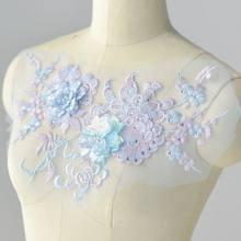 Remendos em roupas vestido de casamento laço applique diy artesanato flor remendo vestuário material auxiliar