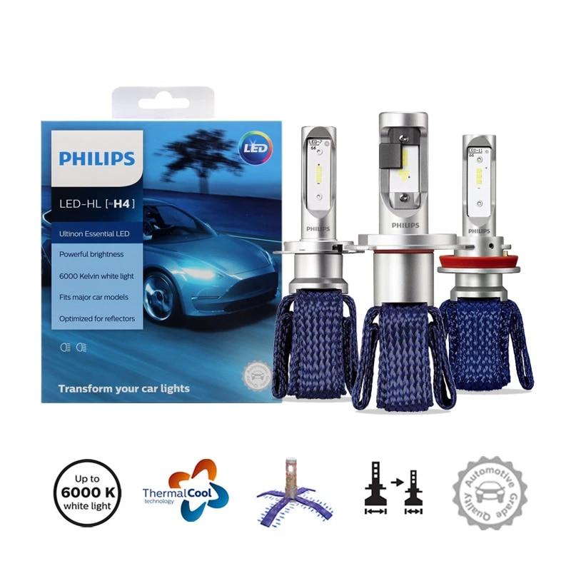 2 шт., Автомобильные противотуманные фары H4 H7 H8 H11 H16 HB3 HB4 HIR2 9003 9005 9006 9012 12 В UEX2 6000K для Philips Ultinon Essential