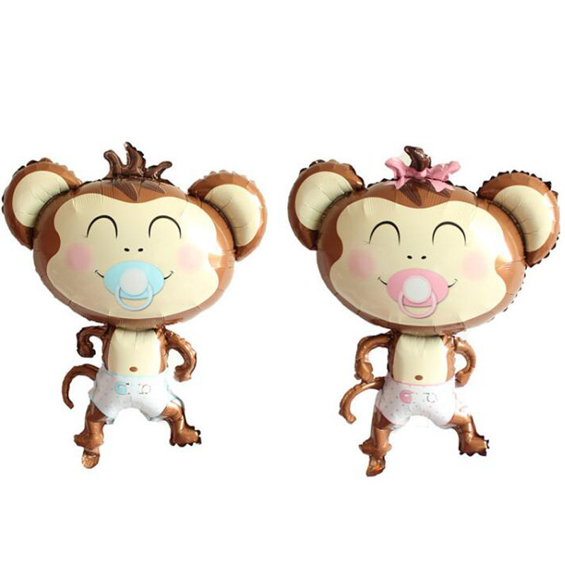 Cartoon Balloon Aluminum Film Cartoon Balloon Large Size Modeling Pacifier Monkey Aluminum Film Cartoon Balloon