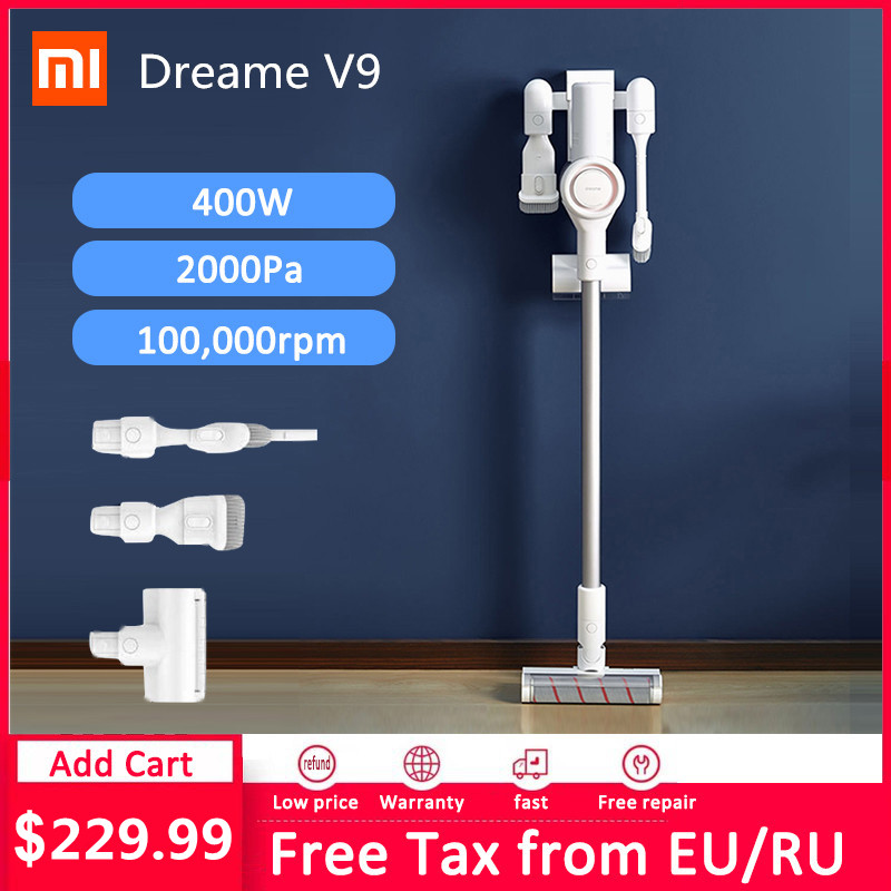 Xiaomi Dreame V9 Handheld Cordless Vacuum Cleaner Portable Wireless Cyclone Stick Aspirador xiaomi