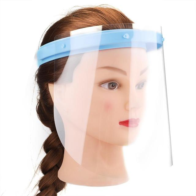 10pcs Dental Protective Face Dental Face Shield 1 Shelf 10Pcs Detachable Face Shield  Anti-Fog Dustproof Replacement Covers