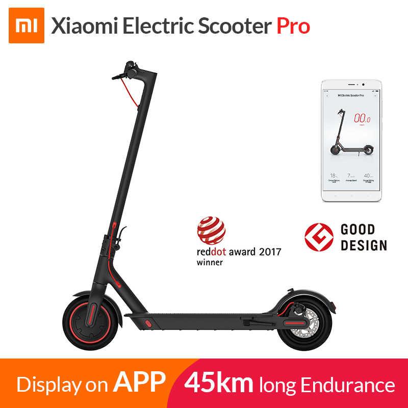 2019 Xiaomi Mi электрический самокат Mijia M365 Pro Smart E самокат скейтборд мини складной Ховерборд Лонгборд для взрослых 45 км аккумулятор