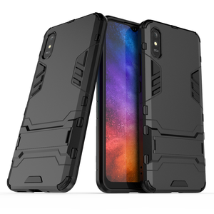 Image 1 - For Case Xiaomi Redmi 9A Cover For Redmi 9A Rubber + Hard Plastic Kickstand Back Cover For Xiaomi Redmi 7 8 9 6A 7A 8A 9A Fundas