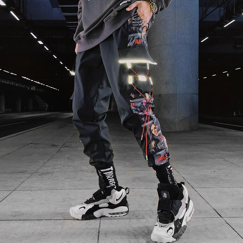 Multi Pockets Cargo Harem Jogger Pants Men Hip Hop Fashion Casual Track Trousers Streetwear Harajuku 2020 New Men Sweatpants