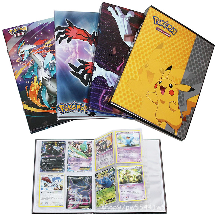 160pcs Takara TOMY Containing Album Toys For Novelty Gift Pokemon Cards Book Album Book Top Loaded Playcard List Games For Kids