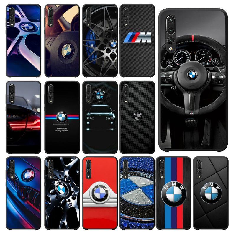 NBDRUICAI Sports Car Design BMW Silicone Phone Case For Huawei P9 10 Lite P20 Pro Lite P30 Pro Lite Psmart Mate 20 Pro Lite