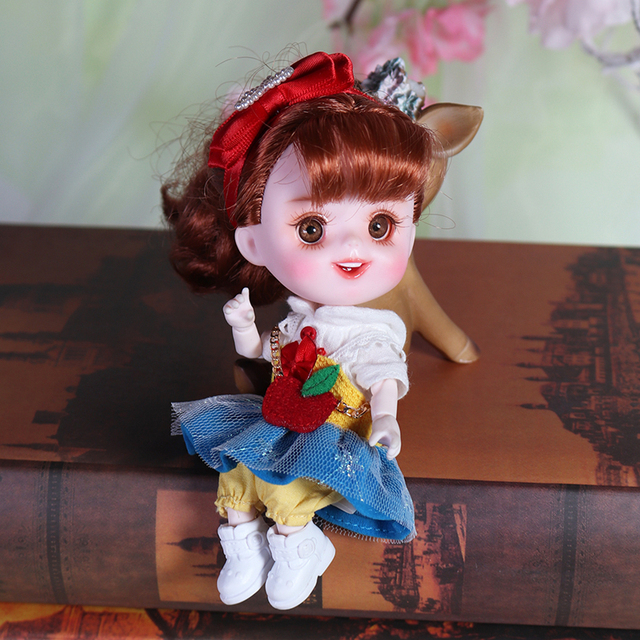 Dream Fairy 1/12 BJD DODO Doll Vintage and Perky style 14cm mini doll 26 joint body Cute children gift toy ob11 5