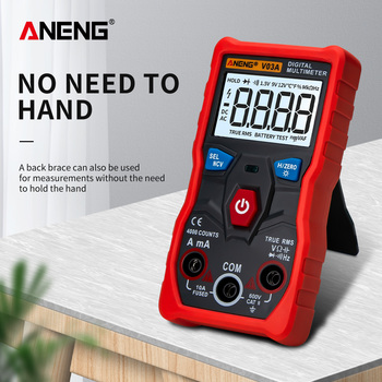 ANENG V03A Digital Auto Multimeter Tranistor Tester NCV True Rms Capacitance Temperature Meter for AC/DC Smart Mutimetro dc ac smart full auto range digital multimeter ncv frequency temperature capacitance tester pm8247s pm8248s
