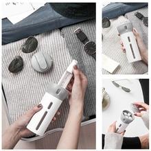 Travel Dispenser Shampoo Lotion Shower Gel Soap Bottle Accessories 4 in 1 Empty Sub-bottle Press Container Refillable Bottle
